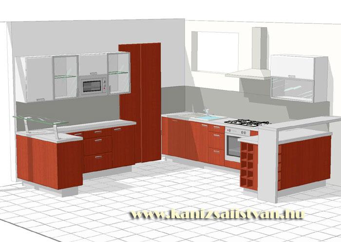 Konyhabútor előszobabútor tervezés 3D bútortervekkel
